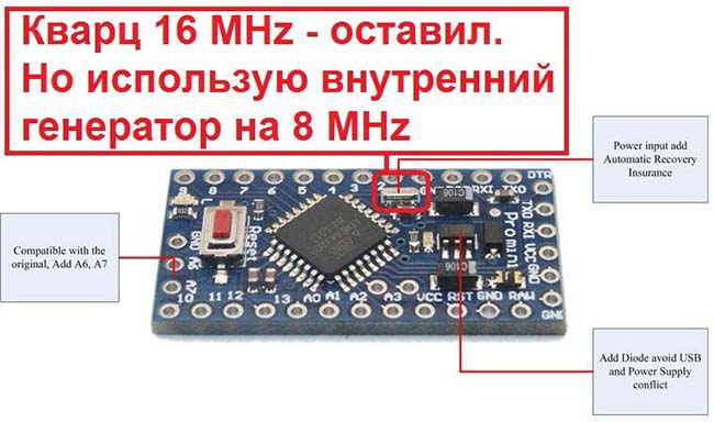 Схема тестера на arduino pro mini с цветным дисплеем
